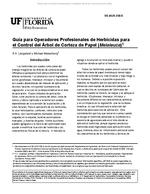 Guia para Operadores Profesionales de Herbicidas para el Control del Arbol de Corteza de Papel (Melaleuca)