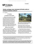 Ayude a proteger areas naturales de Florida contra la invasion de plantas exoticas