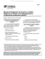 Manual del Reglamento de Desechos y Solidos Peligrosos en Florida: Acta de Recuperacion y Conservacion de Recursos (ARCR)