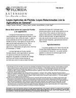 Leyes Agricolas de Florida: Leyes Relacionadas con la Agricultura en General