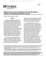 Manual de la Ley de Propiedad y Cercado de Florida: Derecho de Propiedad y Derecho-de-Via