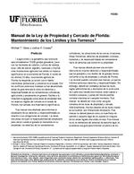 Manual de la Ley de Propiedad y Cercado de Florida: Mantenimiento de los Limites y los Terrenos