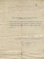 Certificate of Commendation for Albert Huet
