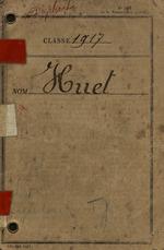 Albert Huet's Livret Militaire
