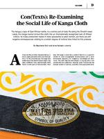 Con(Texts): Re-Examining the Social Life of Kanga Cloth