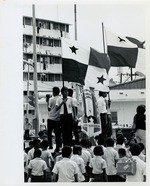 Flag Demonstration on the boundary between Panama and the Canal Zone