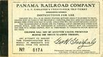 I.C.C. Employee's Twenty-Four Trip Ticket Coupon Book, Panama Railroad Company
