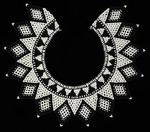Black and white Chaquira necklace