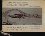 Thatcher Ferry Bridge Dedication Program