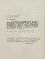 Letter addressed to Governor Potter