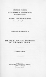 Stratigraphy and zonation of the Ocala group ( FGS: Bulletin 38 )