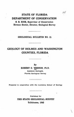 Geology of Holmes and Washington Counties, Florida  ( FGS: Bulletin 21 )