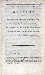 Opinion de François-Paul-Nicolas Anthoine, député du Département de la Moselle