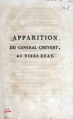 Apparition du General Chevert, au tiers etat