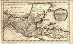 Karte der Provinzen Tabasco, Chiapa, Honduras and Yucatan
