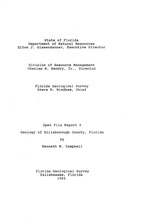 Geology of Hillsborough County, Florida ( FGS: Open file report 6 )