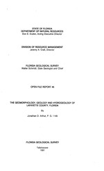 The geomorphology, geology and hydrogeology of Lafayette County, Florida ( FGS: Open file report 46 )