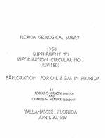 Florida Geological Survey: Information Circular