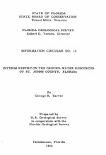 Interim report on the ground-water resources of St. Johns County, Florida ( FGS: Information circular 14 )