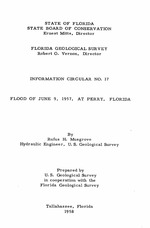 Flood of June 9, 1957, at Perry, Florida ( FGS: Information circular 17 )