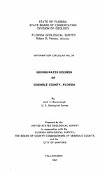 Ground-water records of Seminole County, Florida ( FGS: Information circular 34 )
