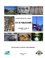 List of publications ( FGS: Information circular 87 )