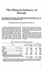 The mineral industry of Florida, 1983