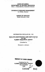 Shallow stratigraphic core tests on file at the Florida Geological Survey ( FGS: Information circular 103 )