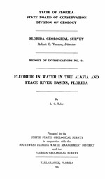 Fluoride in water in the Alafia and Peace River basins, Florida ( FGS: Report of investigations 46 )