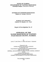 Appraisal of the water resources of eastern Palm Beach County, Florida ( FGS: Report of investigations 67 )