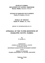 Appraisal of the water resources of Charlotte County, Florida ( FGS: Report of investigations 78 )