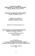 The geology of the western part of Alachua County, Florida ( FGS: Report of investigations 85 )