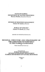 Regional structure and stratigraphy of the limestone outcrop belt in the Florida panhandle ( FGS: Report of investigation 86
