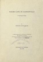 Negro life in Gainesville