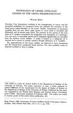 Systematics of Lesser Antillean lizards of the genus Sphaerodactylus