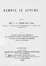 A ramble in autumn