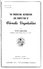 The production, distribution and competition of Florida vegetables