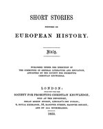 Short stories founded on European history