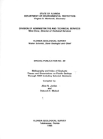 Bibliography and index of graduate theses and dissertations on Florida geology through 1991 including selected abstracts ( FGS: Special publication 39 )