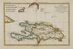 Carte de L'Isle de St. Domingue une des Grandes Antilles, Colonies Francoise et Espagnole