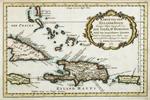 Karte von dem Eylande Hayti heutiges Tages Espagnola oder die Insel St. Domingo Nebst den benachbarten Eylanden