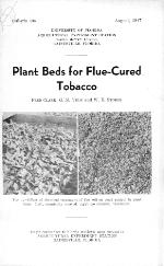 Plant beds for flue-cured tobacco