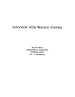 Interview with Warren Cawley March 14 2002