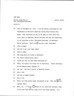 Interview with Mrs. Elizabeth Williams, December 21, 1973