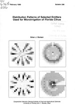 Distribution patterns of selected emitters used for microirrigation of Florida citrus
