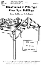Construction of pole-type clear span buildings