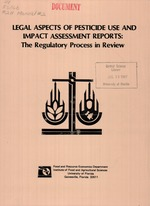 Legal aspects of pesticide use and impact assessment reports