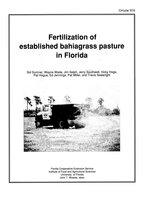Fertilization of established bahiagrass pasture in Florida
