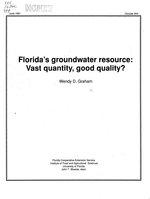 Florida's groundwater resource