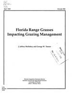 Florida range grasses impacting grazing management